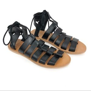 URBAN OUTFITTERS Honey Leather Gladiator Sandal 6